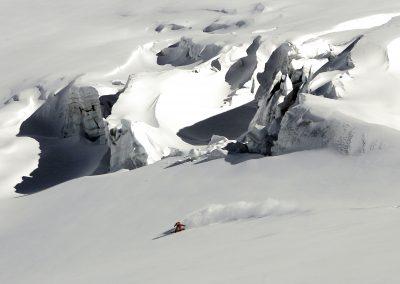 Riding glacier