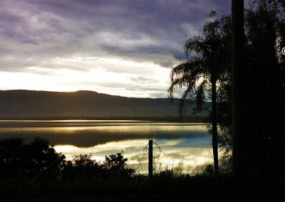 Lagoa encantada sunset